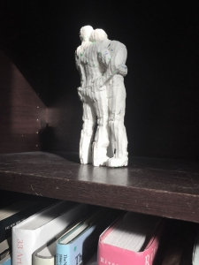 "<span class=""artworkcaption"">Carved foamcore maquette displayed in studio 2017</span>"